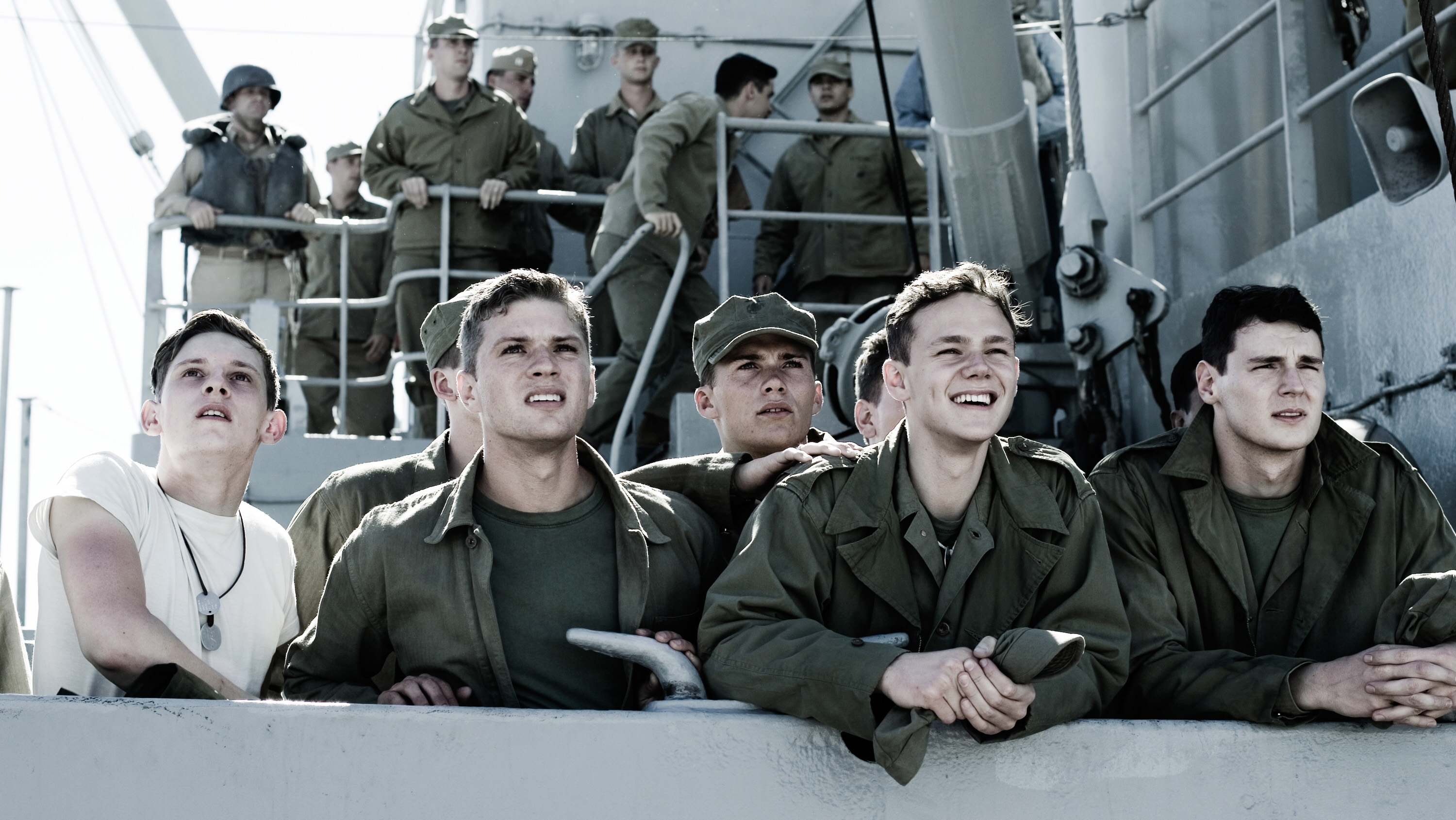 Flags of Our Fathers (2006) Directed by Clint Eastwood Shown from left: Jamie Bell, Ryan Phillippe, Scott Reeves, Joseph Cross, Ben Walker